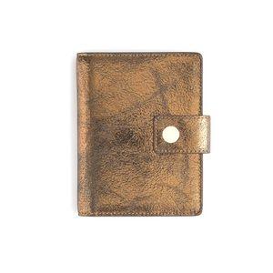 J.Crew•Metallic Leather Passport/Card Holder•NWT